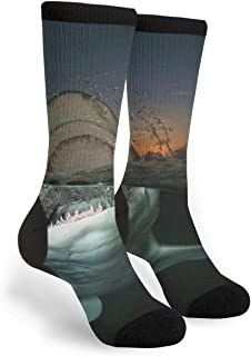 Fearsome Shark Unisex Funny Cool Novelty Crew Socks Casual Dress Tube Socks