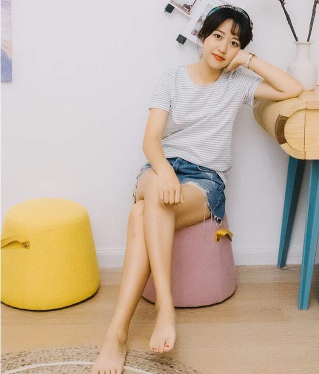LYQZ Tabouret en Bois Mode siège Changement Chaussures Petite Chaise Salon Table Rangement Meubles canapé Tabouret (Couleur : Bleu) Jaune