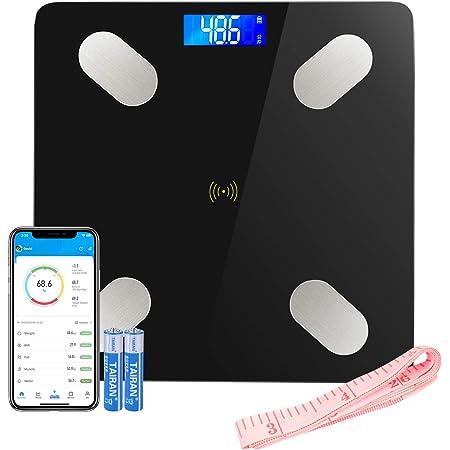 Bilancia Impedenziometrica LIFE-LXC Bilancia Pesa Persona Digitale Massa Grassa Bluetooth Misura Precisa di Peso, Massa Magra, Massa Muscolare, BMI, Massa Ossea per Dispositivi iOS e Android-400 lbs