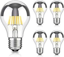 ledscom.de E27 hoofdspiegel LED lamp filament A60 6W =55W warm-wit 710lm ook weerbestendig, 5st.