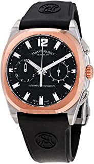 Armand Nicolet J09-2 Chronograph Automatic Black Dial Men's Watch D654AAA-NR-GG4710N
