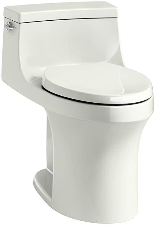 KOHLER K-5172-NY San Souci Comfort Height Compact Elongated 1.28 GPF Toilet  with AquaPiston Flushing Technology and Left-Hand Trip Lever, Dune, 1-Piece  : Amazon.in: Home Improvement