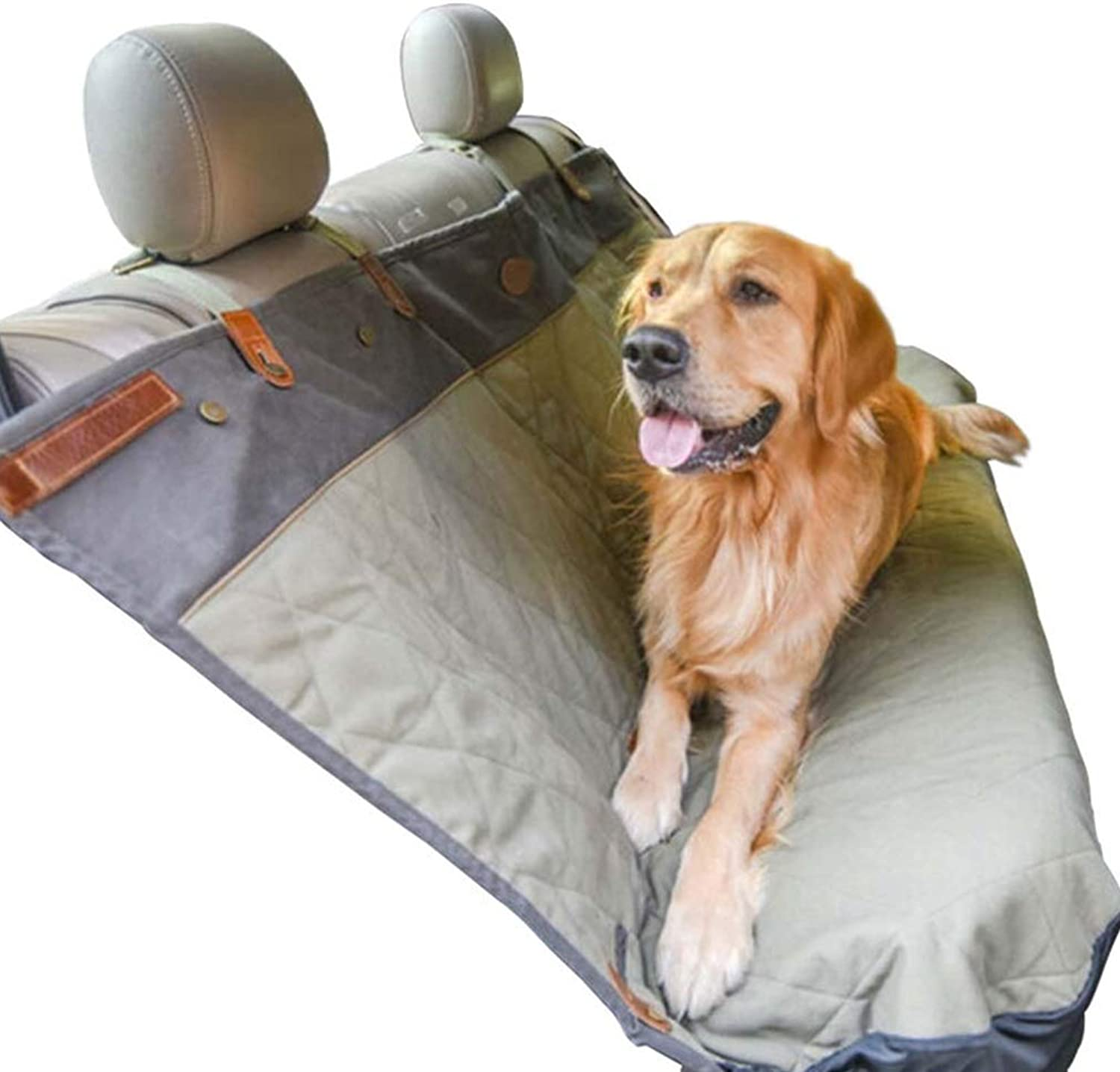 Lh Waterproof Dog Seat Cover, Washable Back Seat Dog Cover For Cars Adjustable Pet Dog Car Seat Belt For Cars Trucks SUV (Size   152 x 119 cm)