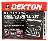 Dekton DT80235 - Juego de brocas para metal (vástago reducido, acero rápido, 8 piezas)