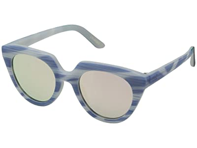 TOMS Lourdes (Matte Infinity Blue Stripes) Fashion Sunglasses
