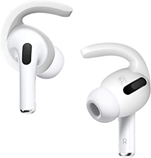 DamonLight AirPods Pro Ear Hooks Anti-Slip AirPods Pro Tips Accessories Compatible with AirPods Pro 2 Pairs(White)
