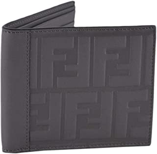 Billfold Leather Two Toned Black and Brown Wallet with Forever Fendi Logo 7M0169