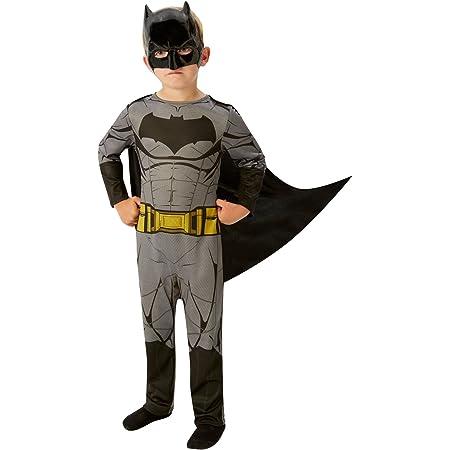 Large Age 7-8 ans Rubies- BATMAN JUSTICE LEAGUE d/éguisement Gar/çon I-640807L Height 128 cm NOIR