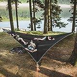 110.24inch Hamac de camping, grand hamac de triangulaire portable 3 personne Hamac de camping, hamac arbre portable