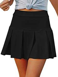 NIMIN Women's Tennis Skirts Pleated Mini Skirt Sports Athletic Golf Running Workout Skorts Skirts with Pockets