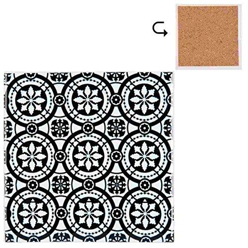 Clayre & Eef 63413 onderzetters 10 * 10 cm