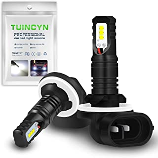 TUINCYN 881/893/899 LED Fog Light Bulbs for Cars CSP Chips 1600LM 6500K Cool White 80W Automobile DRL Daytime Running Lights