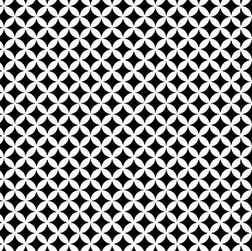 Klebefolie selbstklebende Möbelfolie Elliott schwarz weiss Dekorfolie 45 cm x 200 cm