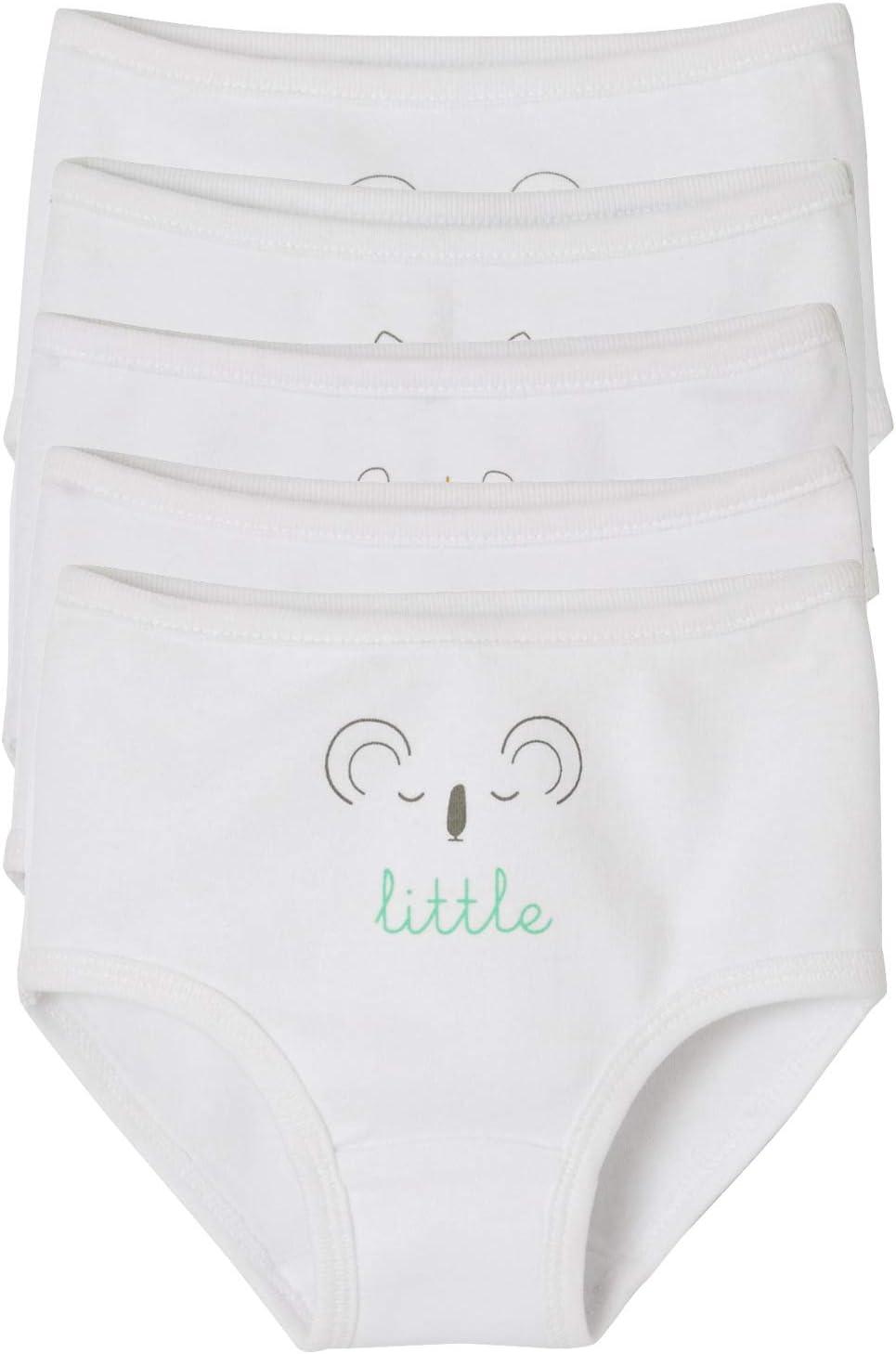 2 ans Pack de 5 en pur coton-Rose//Blanc Nouveau Mothercare Filles Culottes 1.5 ANS
