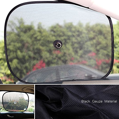Gwogo® Baby Car Sun Shade - Protect Your Baby From Harmful UV Rays - Easy To Stick Attach, Easy To Store,Easy to Remove, Window Sun shades,No Additional Parts (2 Pics)