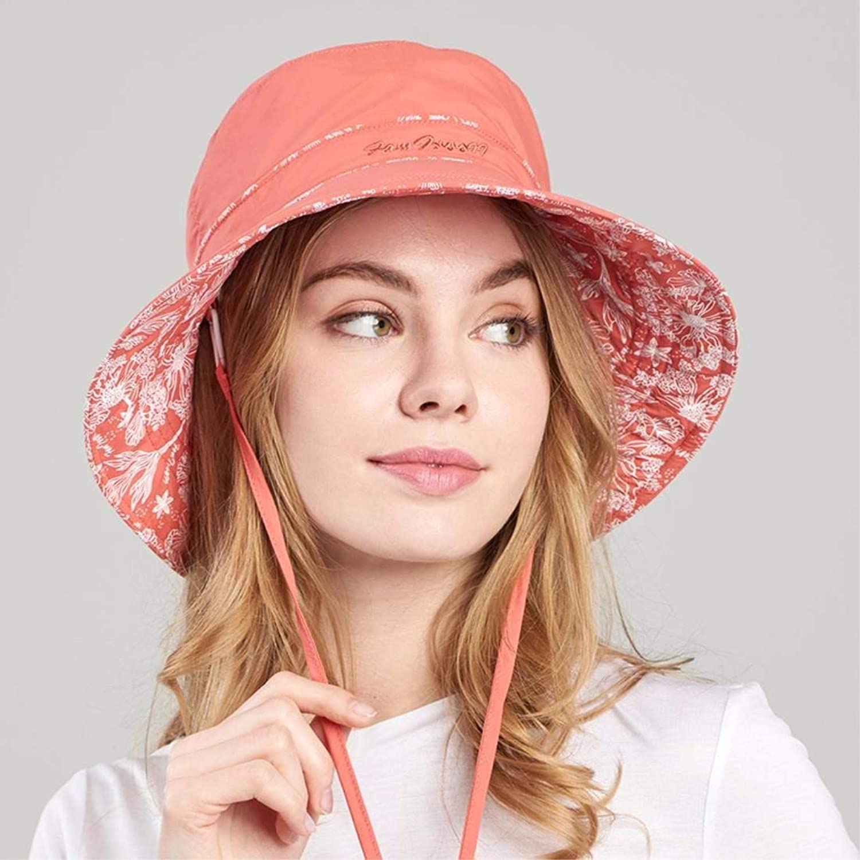 Beach Hat Woman Hat Summer Outdoor Folding Visor Sunscreen Cap Wind Riding Cap orange L Summer Sun Hat