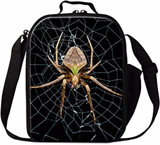 Dispalang Spider Insect Print Lunch Box Bag for Children School Lunch Container