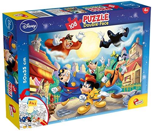 Lisciani Giochi-Disney: Mickey Mouse Detective Puzzle, 108 Pezzi, Multicolore, 48021