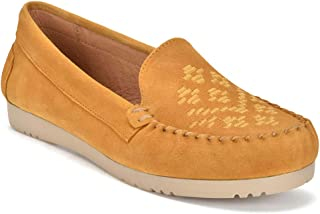 Five Tribe Women's Creative Suede Moccasin Loafer