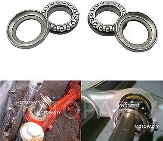 Motoparty Steering Stem Bearings Kit For Honda C70 CT70 CT90 CT110 XL70 SL70 CL70 XR50 XR70 CRF50 CRF70 CRF70F CRF80F CRF100F Z50R Z50A ATC70 ATC90 ATC110 ATC125 ATC185 ATC200E Bearing Stem Set