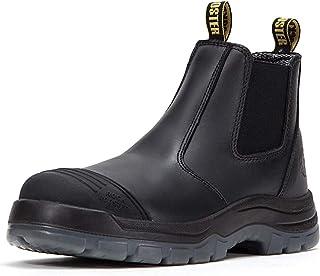چکمه های کاری مردانه ROCKROOSTER ، انگشت نرم 6 اینچی ، کفش چرمی روغنی ایمن ، پخش کننده استاتیک ، تنفس ، سریع خشک AK227NT…