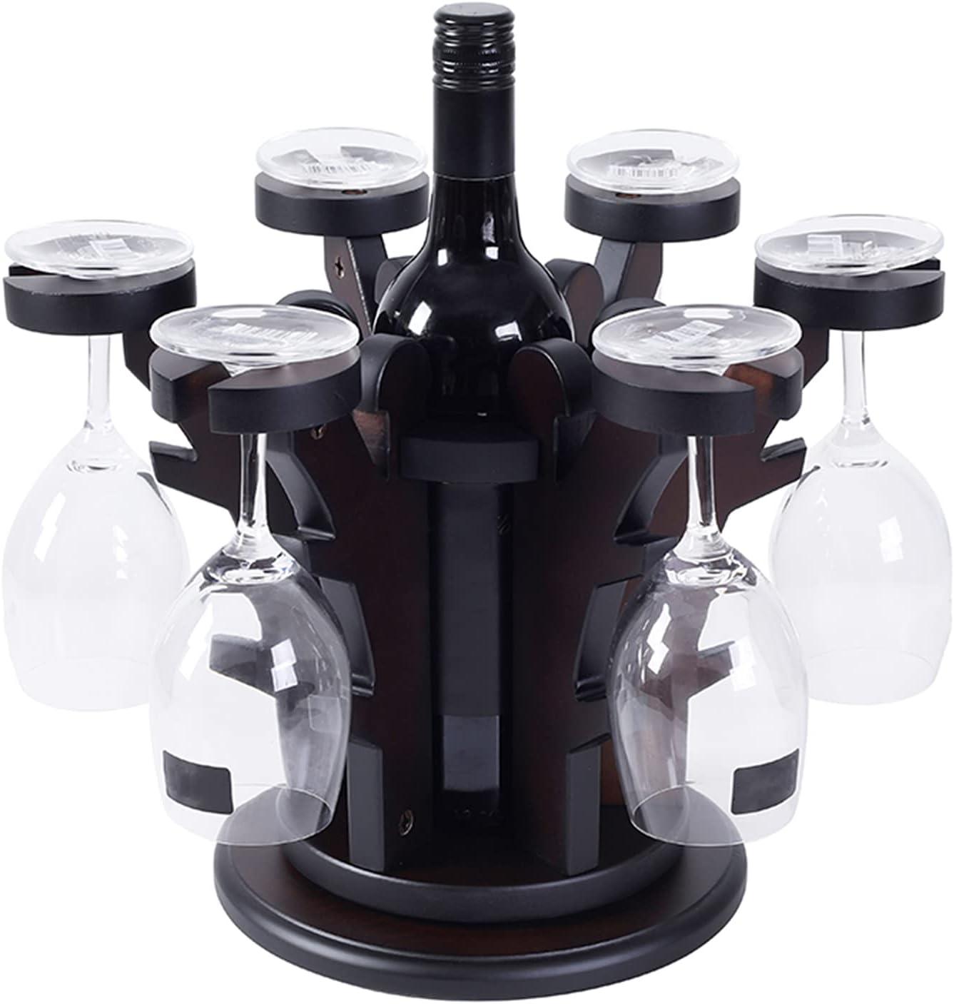 Dark Red Elegant Cash Cow Shape Rack Solid Win Stylish Super sale period limited Seattle Mall Wood Wine