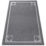 Vonbarque Large Cat Litter Mat(35.4' x 23.6'), Easy Clean Scatter Control with Durable Waterproof Layer,Non-Slip,Non Toxic Trapper Rug,Soft on Kitty Paws Anti-Tracking Litter Box Mat