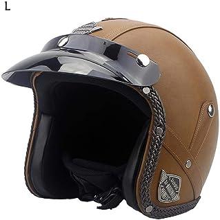 gaeruite Cuero de la PU del Casco de la Motocicleta de la Vendimia, Cascos de