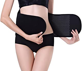 1PCS Black Mesh Style Abdominal Binder Postnatal Belly Waist Slim Slimming Shaper Back Support Girdle Belt Pregnancy C-section Recovery Shapewear Abdomen Corset Staylace for Women (M)