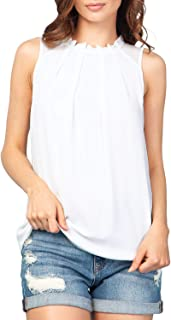 Best white sleeveless tops Reviews