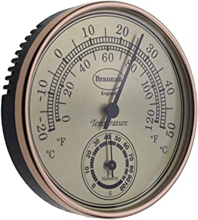 Brannan Thermometer Hygrometer Gilt Dial - Home, Office, Garden, Greenhouse or Conservatory