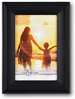 Spiretro 4 x 6 inch Country Scoop Wide Molding, Solid Wood Picture Frame with Plexiglass, Vertically and Horizontally Disp...