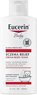 Eucerin Baby Eczema Relief Cream Body Wash, Gentle Cleanser for Eczema-prone Skin, 13.5 Fl Oz