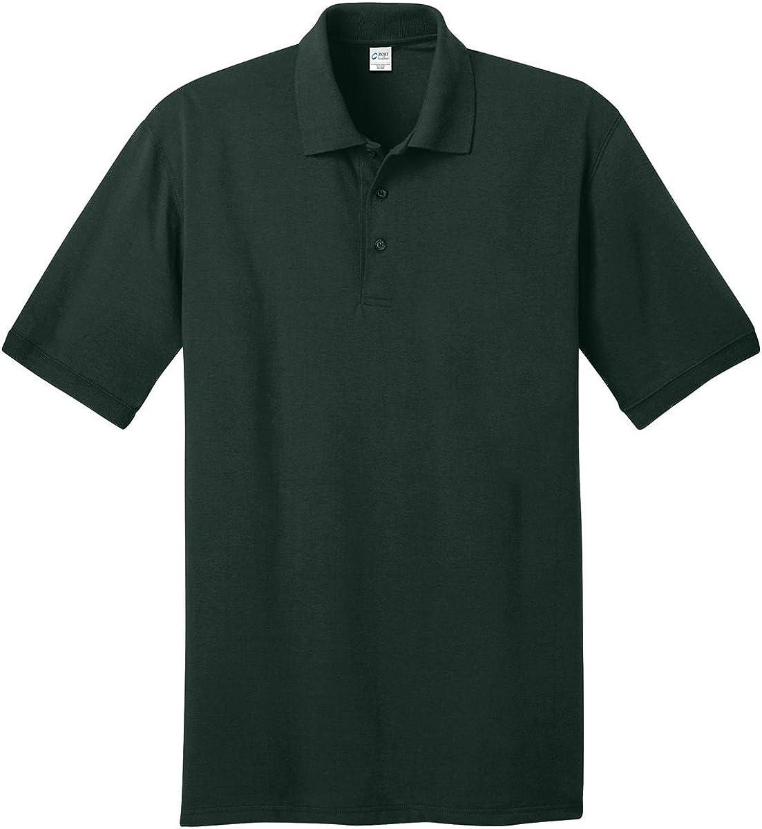 Port & Company Tall 5.5-Ounce Jersey Knit Polo Shirt, Dark Green, Large Tall
