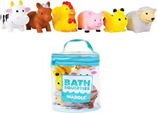 (One Size, Farm Animals) - Waddle Bathtime Toys Farm Animal Bath Toy Squirters Cow Pig sheep Horse and More