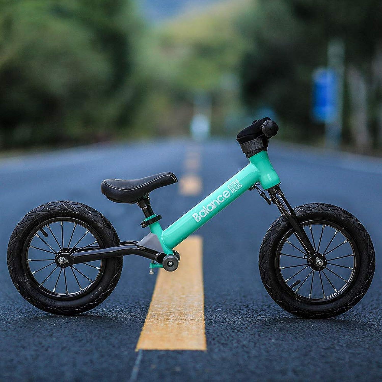 envío gratis Balance Bike 12 Ruedas inflables No Pedal Marco de Acero Acero Acero al Cochebono para Niños 2, 3, 4, 5, 6 años Niños,Aquaverde  barato y de moda