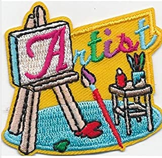 Cub Girl Boy ARTIST Embroidered Iron-On Fun Patch Crests Badge Scout Guides