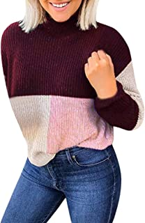 2019 Sweaters for Women Plus Size Warm O-Neck Oversized Long Sleeve Slim Fit Fashion Winter Pullover Jumper Tops 5XL
