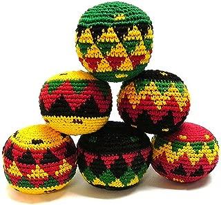 Mia Jewel Shop Guatemalan Handcrafted Crochet Assorted Pattern Hacky Ball Foot Bag Sack Rasta