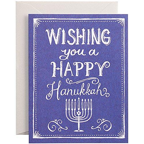 Hanukkah Royal Chalk - 'Wishing You A Happy Hanukkah' - 10 pack of cards and envelopes