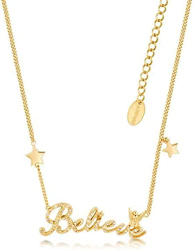 Disney Tinker Bell – Beleive Necklace Crystal 'Gold Plated'