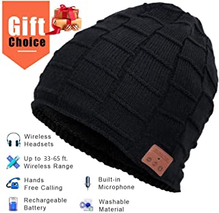 Bluetooth Beanie, Mens Gifts, Wireless Bluetooth Hat, Gift for Men Women, Knit Music Hat with Bluetooth 5.0, Dual Layer, Washable, Fit for Outdoor Sports, Gifts Christmas Birthday Thanksgiving Day