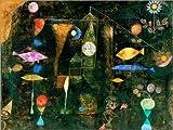 Poster 80 x 60 cm: Fisch-Magie von Paul Klee - hochwertiger Kunstdruck, neues Kunstposter - Paul Klee