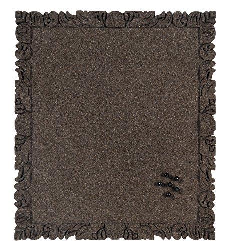 Bi-Office Korktafel Rococork, rahmenlos, hochwertige Korkoberfläche, schwarz, 40 x 45 cm