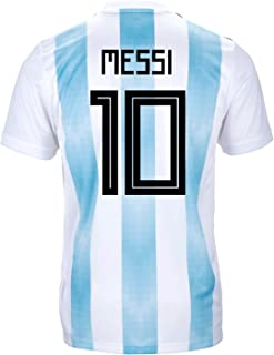 Messi #10 Argentina Official Youth Home Soccer Jersey World Cup Russia 2018