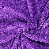 Fabulous Fabrics Teddy Plüsch Kuschel lila — Meterware