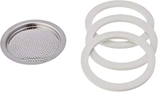 Bialetti Replacement Gaskets and Filter for Venus/Kitty/Musa 4 Cup Espresso Machine
