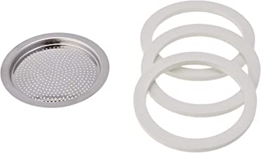 Bialetti Replacement gaskets and filter for Venus/ kitty / Musa 4 cup Espresso Machine Replacement Parts