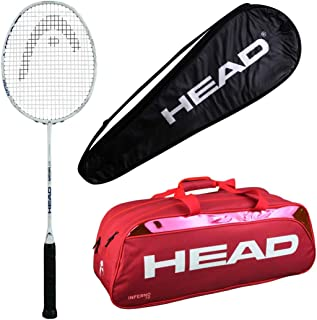 HEAD Head Ignition 500 Badminton Racquet Set with Inferno 70 red kitbag