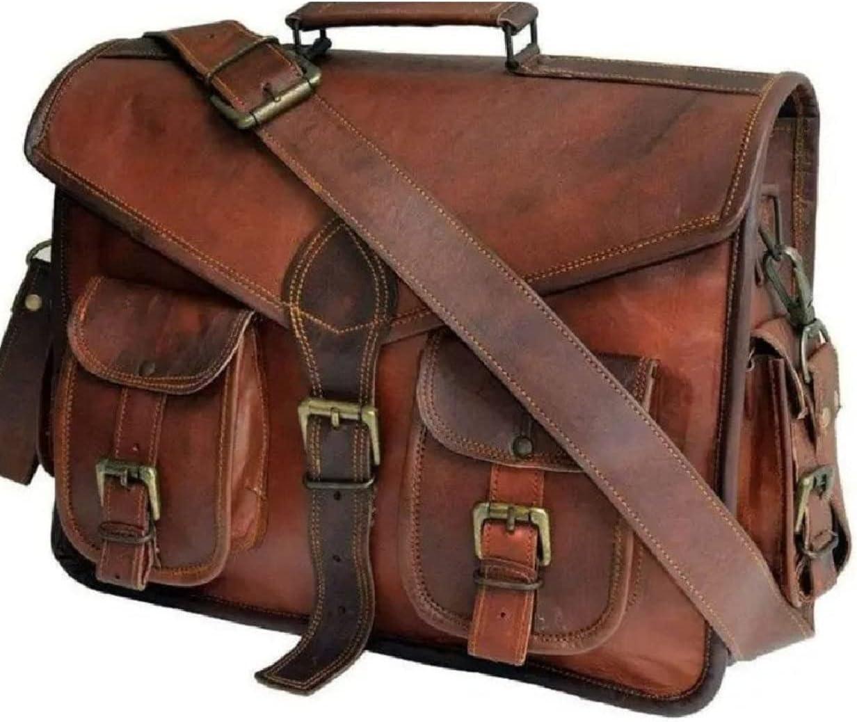 MONTEXOO 15 Inch Large Vintage La Bag Selling Selling rankings Handmade Messenger Leather